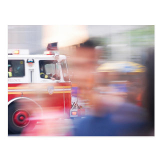 Carte Postale Sapeurs-pompiers New York
