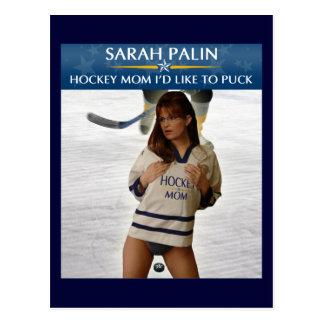 Carte Postale Sarah Palin - maman d'hockey que je voudrais à la