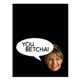 Carte Postale Sarah Palin ? Vous Betcha !