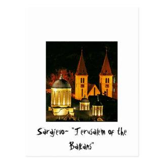 Carte Postale Sarajevo Jérusalem du Balcans