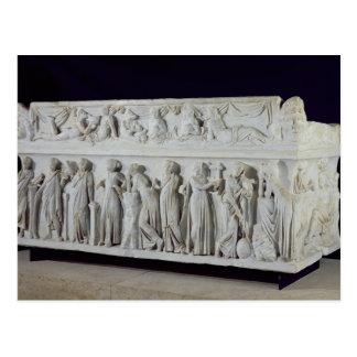 Carte Postale Sarcophage avec la frise des neuf Muses