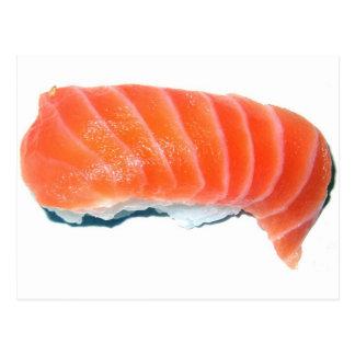 Carte Postale Sashimi saumoné