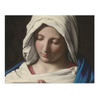 Carte Postale Sassoferrato - Madonna dans la prière