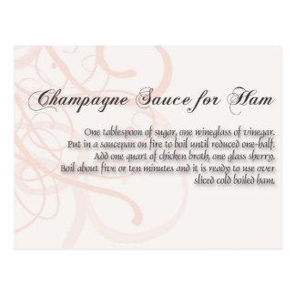 Carte Postale Sauce à Champagne pour l'ha,
