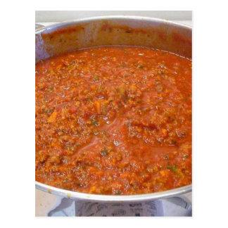 Carte Postale Sauce à Italien de nourriture de cuisine de dîner