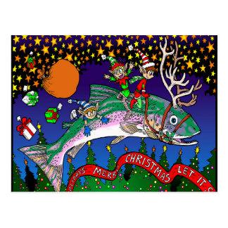 Carte Postale Saumon de Noël