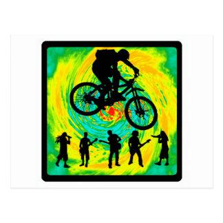 Carte Postale Saut triple de vélo