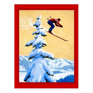 Carte Postale Sauter de ski de la Suisse