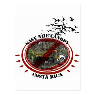 Carte Postale Sauvez l'Auvent-Côte Rica