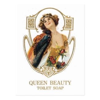 Carte Postale Savon de toilette de beauté de la Reine