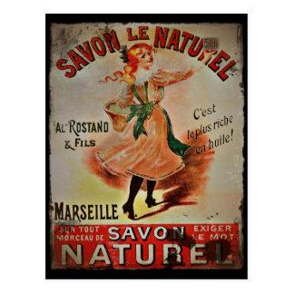 Carte Postale Savon vintage Naturel