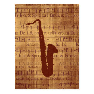 Carte Postale Saxophone antique