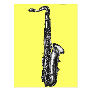 Carte Postale Saxophone de tenor