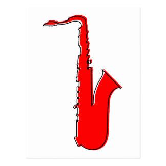 Carte Postale saxophone d'oddRex