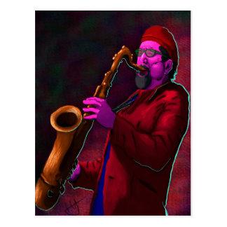 Carte Postale Saxophoniste