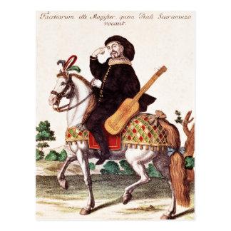Carte Postale Scaramouche à cheval