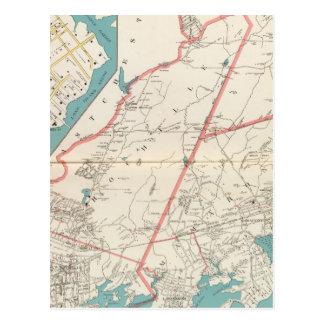 Carte Postale Scarsdale, New Rochelle, villes de Mamaroneck