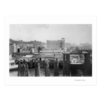 Carte Postale Scène d'Astoria, Orégon avec le glissement de