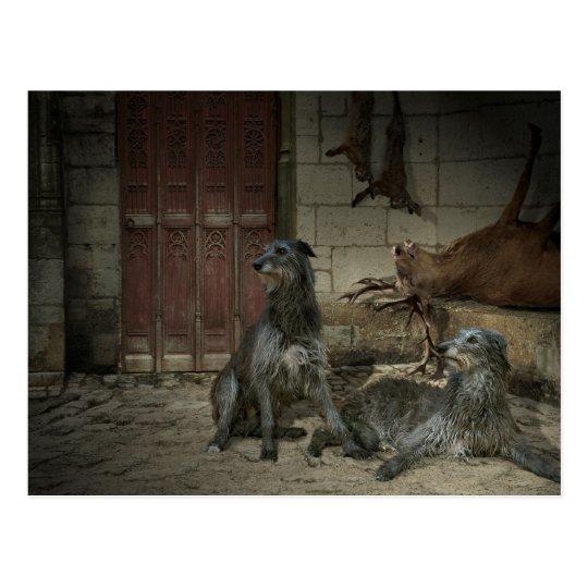 Carte Postale Scène de chasse : le butin (part. 3)