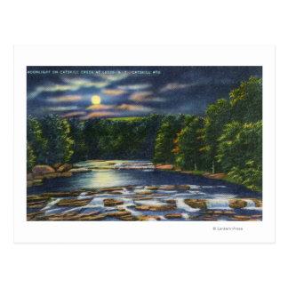 Carte Postale Scène de clair de lune sur la crique de Catskill