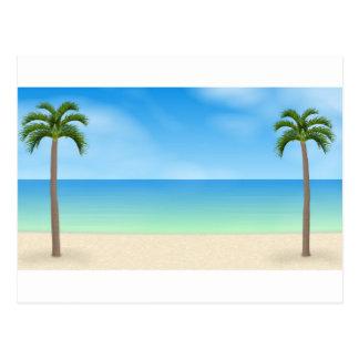 Carte Postale Scène de jour de plage :