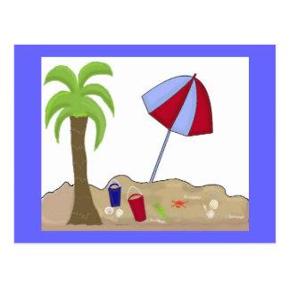 Carte Postale Scène de plage