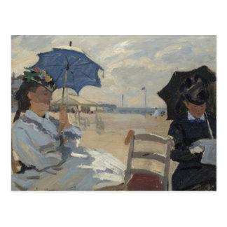 Carte Postale Scène de plage de Claude Monet