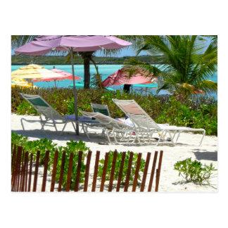Carte Postale Scène de plage d'île des Caraïbes