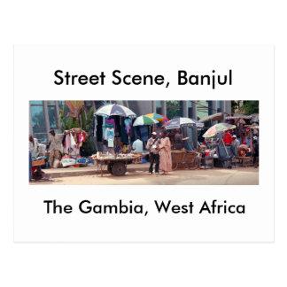 Carte postale, scène de rue, Banjul