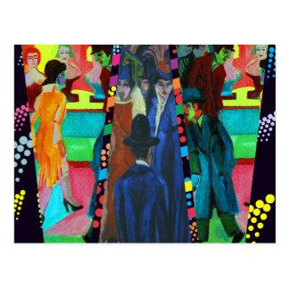 Carte Postale Scène de rue par Ernst Ludwig Kirchner