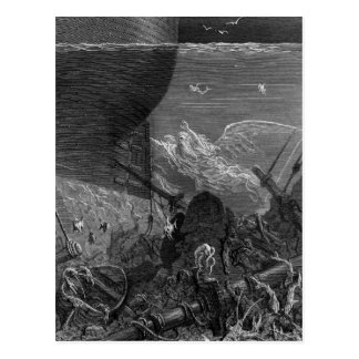Carte Postale Scène 'du givre du Mariner antique