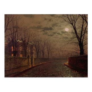 Carte Postale Scène éclairée par la lune de rue, 1882 (huile sur