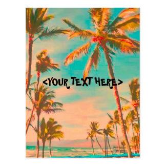 Carte Postale Scène hawaïenne vintage de plage de PixDezine