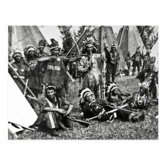 Carte Postale Scène Iroquois de camp au Québec