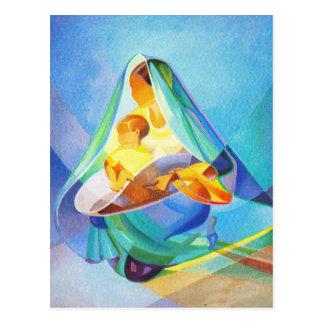 Carte Postale Scène orientale de nativité, Mary, Jésus,
