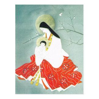 Carte Postale Scène orientale, Mary et Jésus de nativité