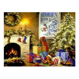 Carte Postale Scène vintage de Noël