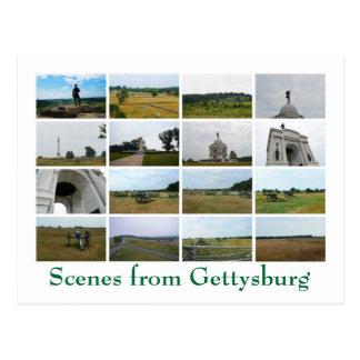 Carte Postale Scènes de Gettysburg