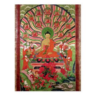 Carte Postale Scènes de la vie de Bouddha