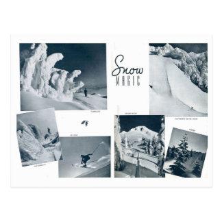 Carte Postale Scènes vintages de ski