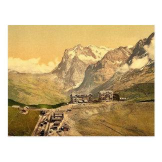 Carte Postale Scheidegg et bâti Wetterhorn, Bernese Oberland,