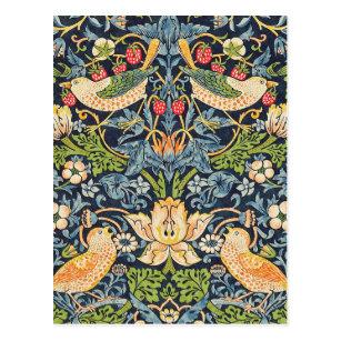 Carte Postale Schéma floral William Morris Strawberry Thief