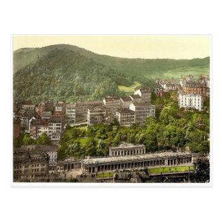 Carte Postale Schlossberg, RAR de Carlsbad, Bohême,