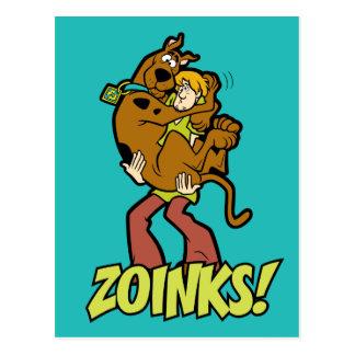 Carte Postale Scooby-Doo et Zoinks hirsute !