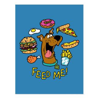Carte Postale Scooby-Doo m'alimentent !