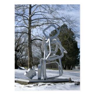 Carte Postale Sculpture argentée en parc de Mellon