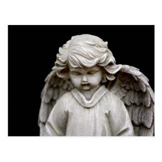 Carte Postale Sculpture d'ange de cupidon, mémorial, condoléance