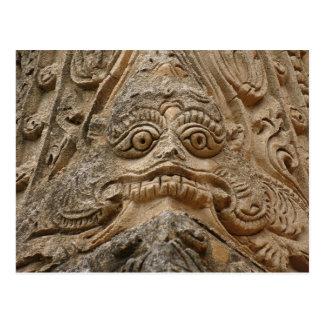 Carte Postale Sculpture de temple