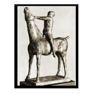 Carte Postale Sculpture en cheval et en cavalier