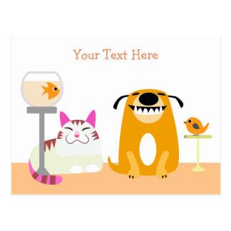 Carte postale se reposante d'affaires d'animal